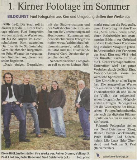 Allgemeine Zeitung vom 08.04.2010